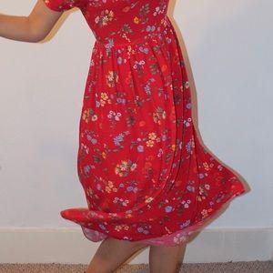 Vintage Floral Prairie Dress